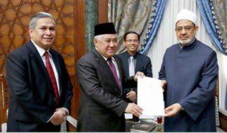 Din Syamsudin Temui Grand Syaikh Al Azhar, Undang Hadiri HLC of World Muslim Scholar